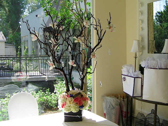 Gift Table Arrangement Lucky Bamboo Flowers Amp Orchids